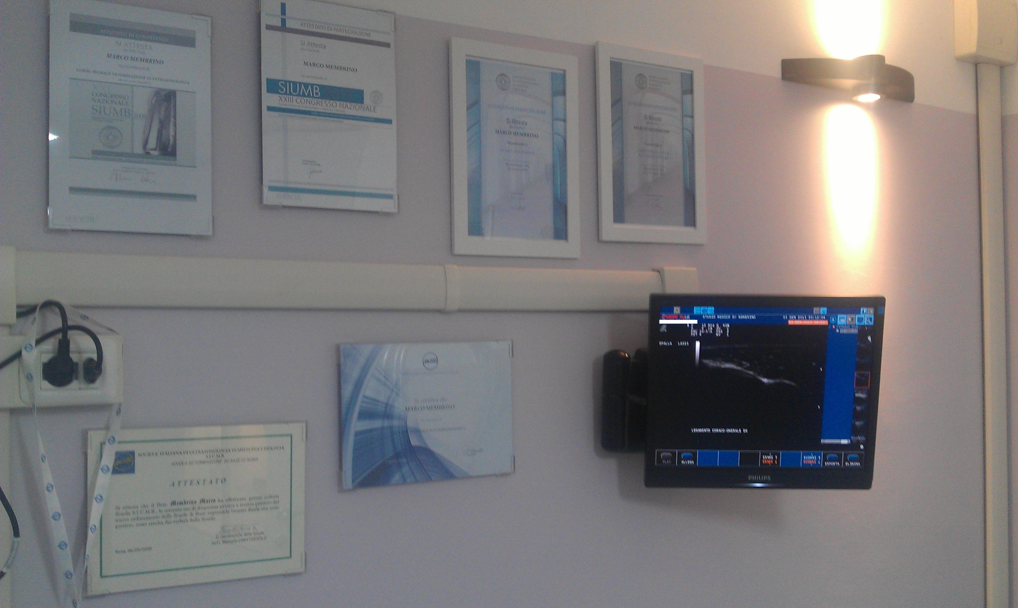 Dr Membrino monitor ecografie